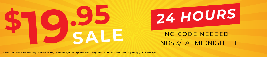 19.95 SALE | ONLY 24 HOURS