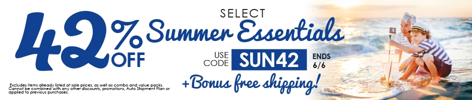 42% off Summer Essentials