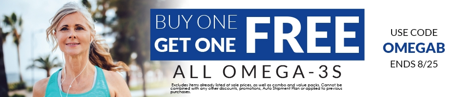 All Omega-3s: Buy One, Get One Free!