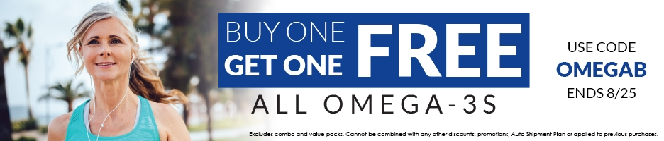 Omega-3 Sale | Buy One, Get One FREE