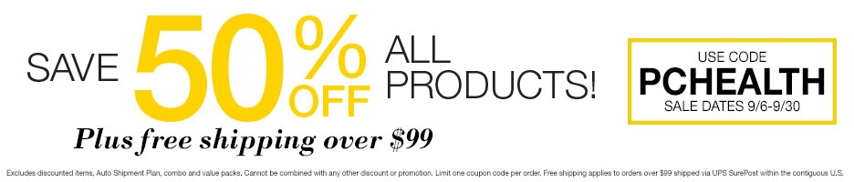 Save 50% Off All Products