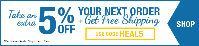 Take an 5% off your next order + free shipping with code HEAL5